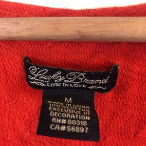 Lucky Brand Tops - Lucky Brand Peacock Feather T-shirt